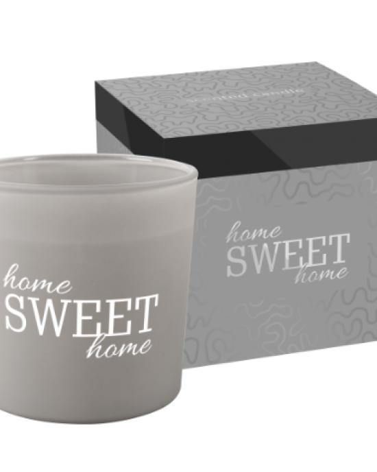 Dišeča sveča z dvema stenjema Home sweet home