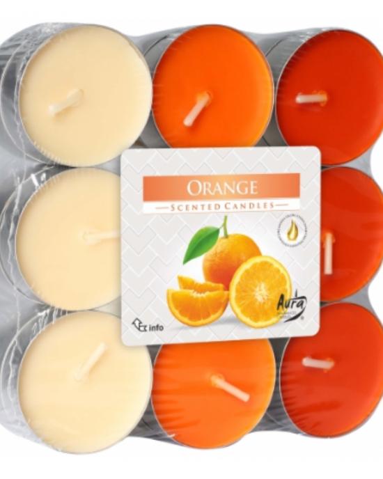 Dišeča čajna sveča 18 1 Pomaranča